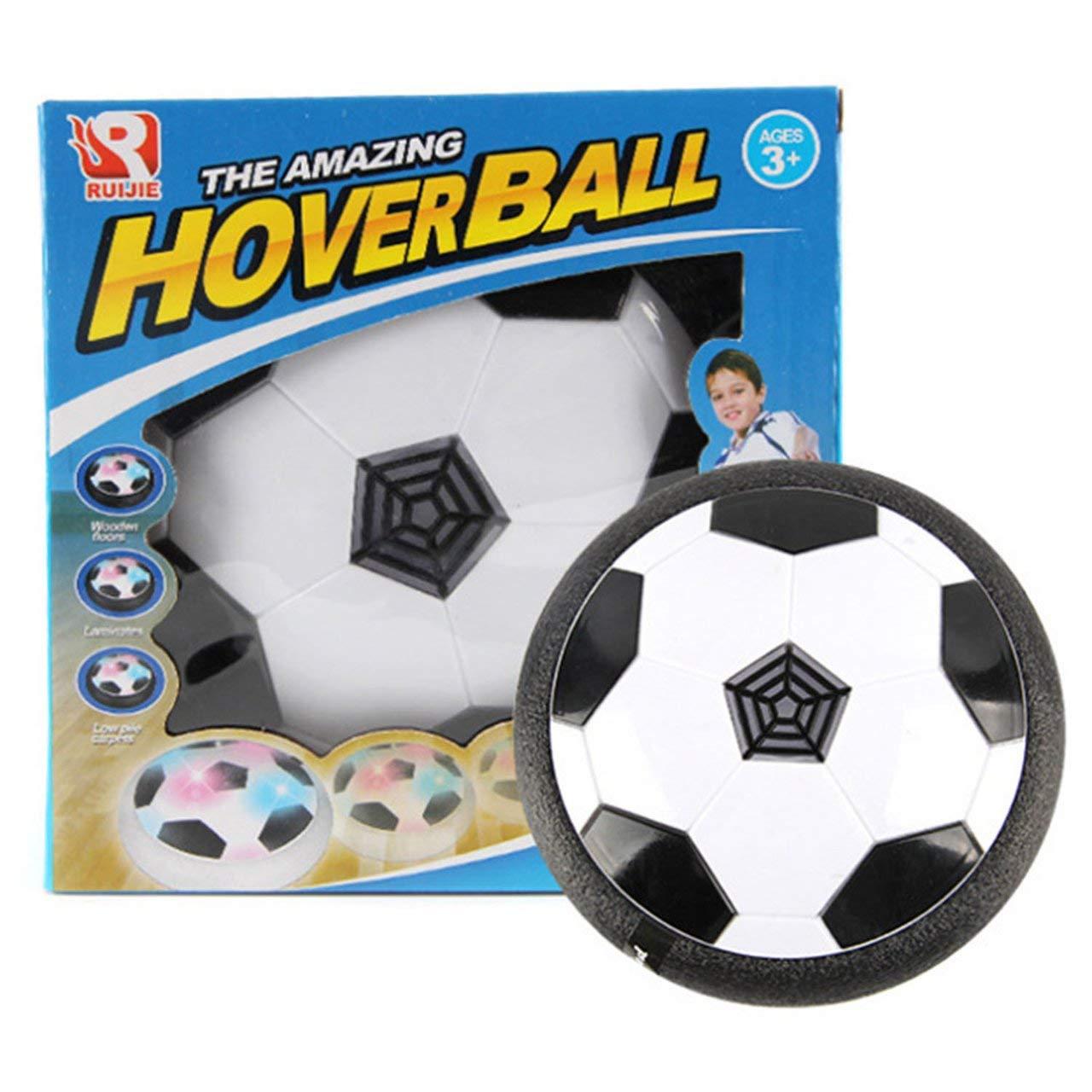 Jasnyfall LED blinkende Kugel Spielzeug Air Power Fußball Disc Disc Indoor Fußball schwebende Spielzeug weiß & schwarz