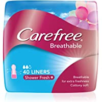 Carefree Breathable Shower Fresh Pantyliners, 40 count