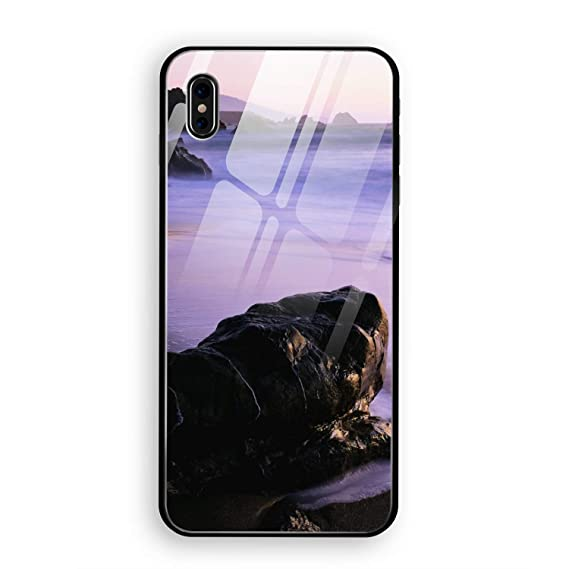 timeless design c5022 2ddba Amazon.com: Earth Coastline iPhone X Case, Clear Tempered Glass Back ...