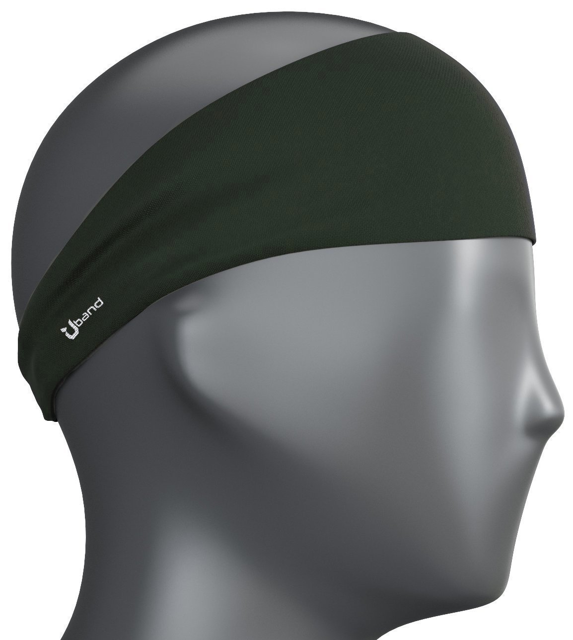 Self Pro Mens Headband - Guys Sweatband & Sports Headband for Running, Cross Training, Racquetball, Working Out - Performance Stretch & Moisture Wicking - Dark Green by Self Pro