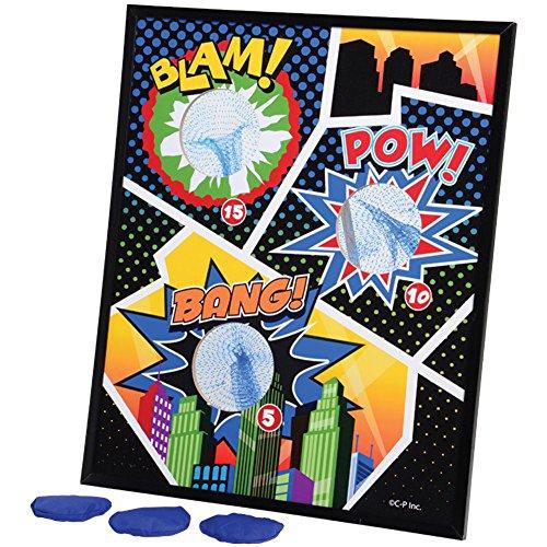 Superhero Bean Bag Toss (Superhero Party Games compare prices)