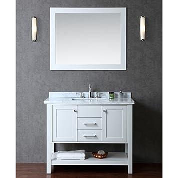 Ariel Scbay42scg Bayhill 42 Single Sink Bathroom Vanity Set With Marble Top Block Feet Simple