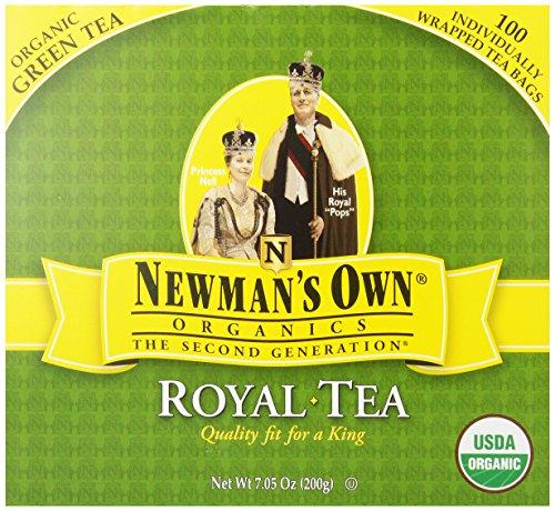 OwnOrganics thé Royal de Newman, Thé vert bio, 100-Count emballés individuellement Sachets de thé (Pack de 5)