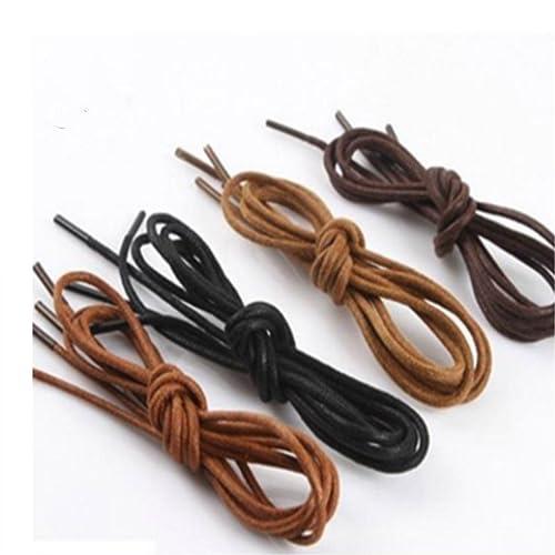 8d4e5c6641176 Round Waxed Cotton Oxford Shoelaces Dress Shoes Shoelaces Boots Shoe Laces