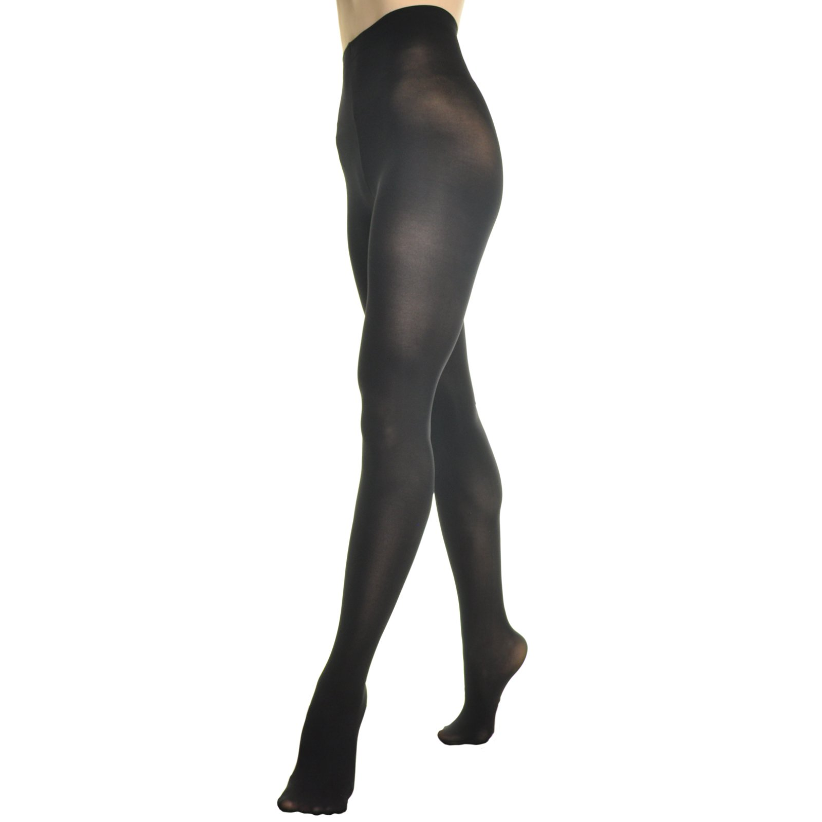 Angelina 6-Pack Womens Professional-Grade Footed Ballet Tights, #248_BLK_SM