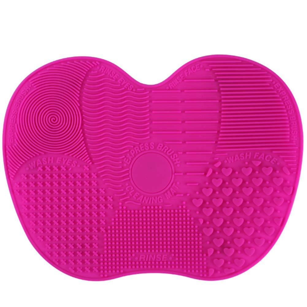 Make-up Pinsel Reinigung, Rocita Silikon Pinselreiniger Apfelform Kosmetik Pinsel Matte Pinsel Reinigungswerkzeug, Rose
