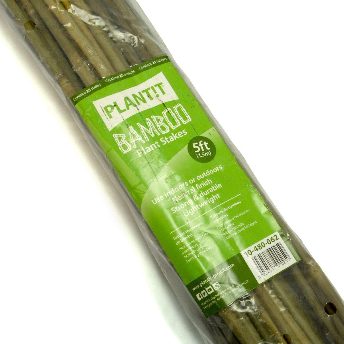 -Pacco da 25 Set Beige 120cm PLANT!T 4 Paletti in bamb/ù Plant IT 122x3x6 cm