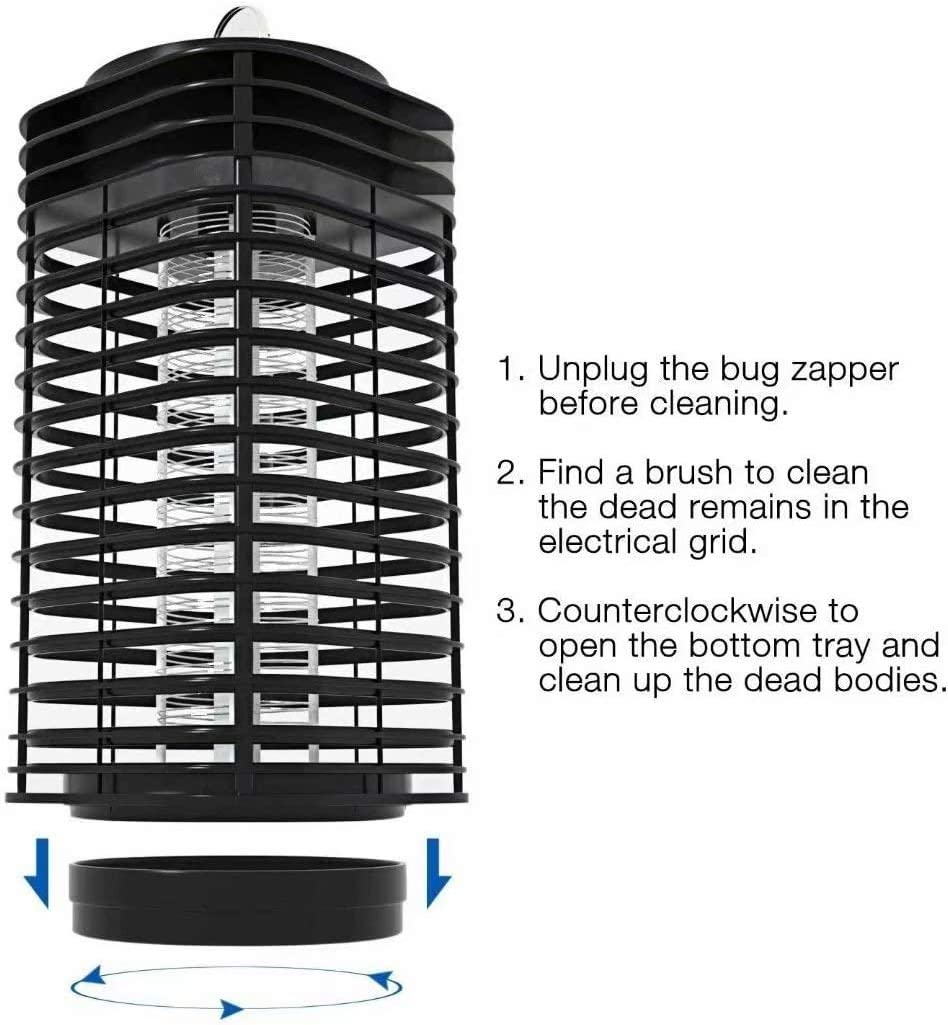 Insect Bug Fly Catcher ERTDDE Electric Bug Zapper Mosquito Killer Lamp UV Bug Light LED Lamp for Home Bedroom,Kitchen Office Black Mosquito Trap with Hook