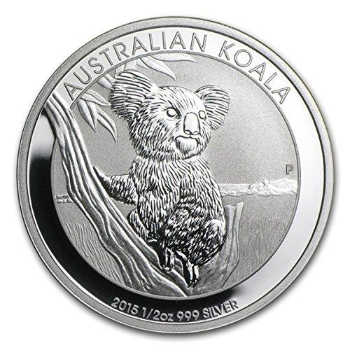 - 2015 Special Mint Silver Very Fine 1/2 oz Silver Koala 999 Fine Perth Mint Austrailia