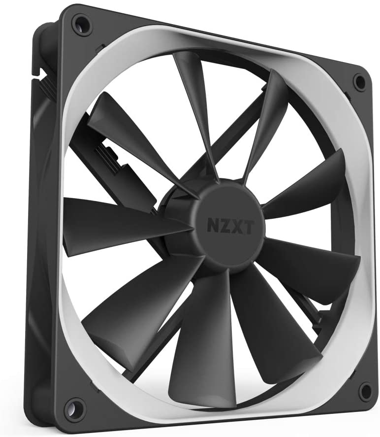NZXT AER F - 120mm - Winglet Designed Fan Blades - Fluid Dynamic Bearings - PWM Airflow Fans - Gaming Computer Fan
