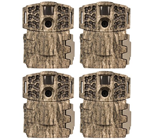 (4) MOULTRIE Game Spy M-880 Low Glow Infrared Digital Mini Trail Cameras - 8 MP