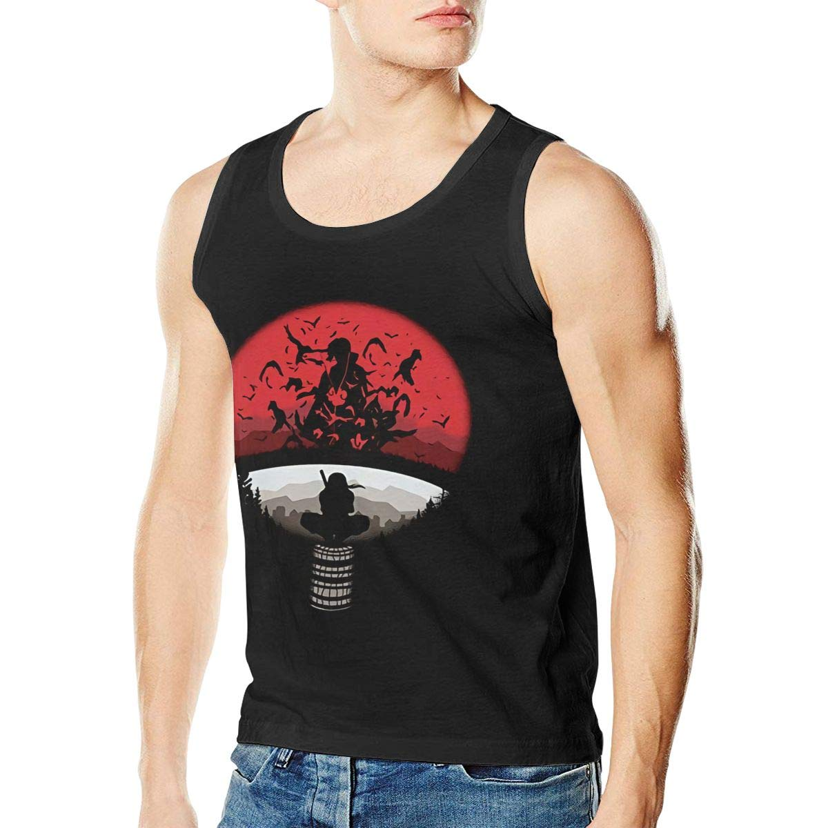 Funny Naruto Apparel Real Mans Stylish Sleeveless Tank Vest T-Shirt