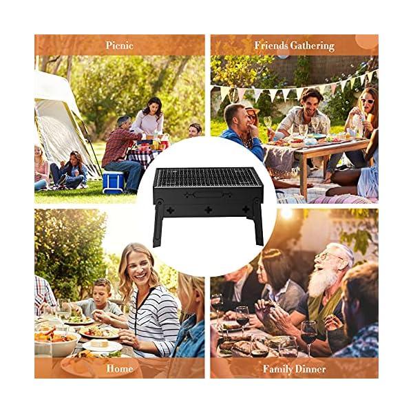 613ufVTWlKS BBQ Holzkohlegrill GolWof Faltbarer Grill Tragbarer Picknickgrill Campinggrill Klappgrill für 3-5 Personen für Picknick…