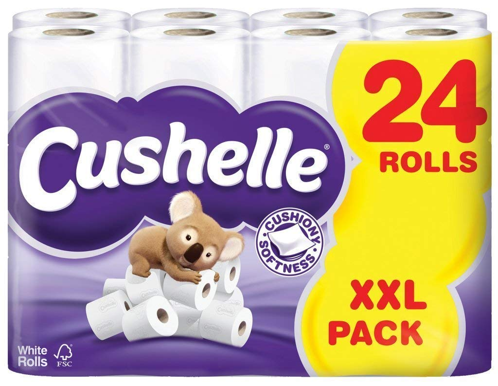 Other Home Cleaning Supplies Household Supplies & Cleaning Cushelle White Toilet Rolls 24 Per Pack