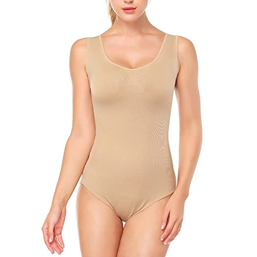 9b0b5e660a269 Image Unavailable. Image not available for. Color  SESY Women s Shapewear  One Piece Bodysuit Sleeveless Tummy Control Jumpsuits