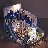 Efivs Arts ドールハウスキット Childish Little Wish 小屋モデル ミニチュア ドールハウス LEDと防塵ケース付属 オルゴール付属 手作りキットセット 子供 プレゼント ブルー 初心者 子供の日 Children's Day