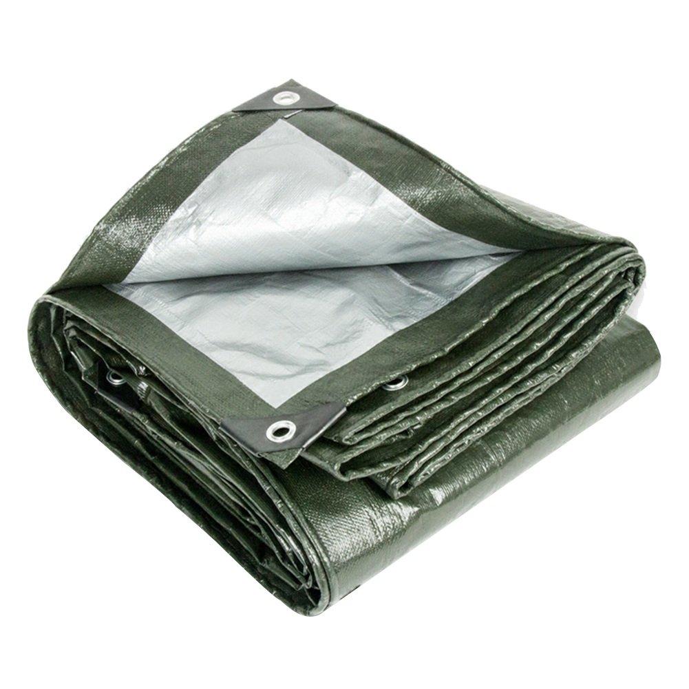 ZHANWEI ターポリンタープ 防水 日焼け止め 断熱 厚くする 屋外の プラスチック 織り 布、 厚さ0.35mm、 カスタマイズ可能なサイズ (色 : 緑, サイズ さいず : 6x6M) 6x6M 緑 B07PVJQ3JZ