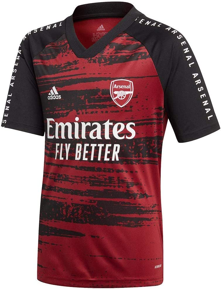 Camiseta adidas Arsenal FC Pre Match 2020-2021 Ni/ño Noble Maroon-Black
