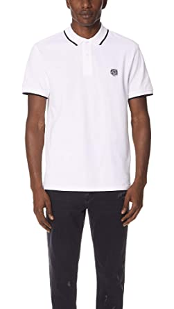 94dfb56fa1 Kenzo Men's Regular Fit Tiger Crest Polo, White, X-Large | Amazon.com