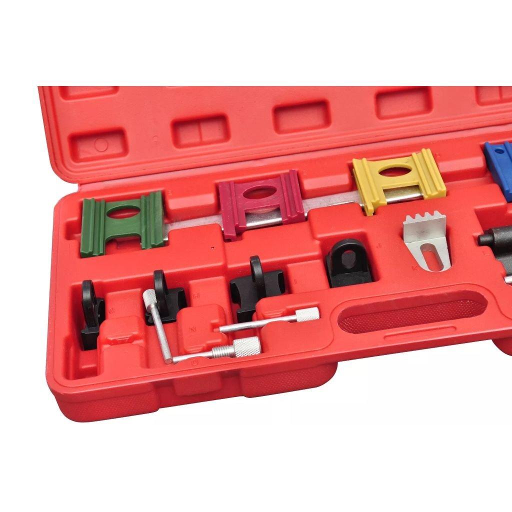 Xinglieu Kit Llaves Sincronización Correa de distribución, 13 Unidades fácil de Usar, Transportar y axilares Accesorios para vehículos Caja de Herramientas ...