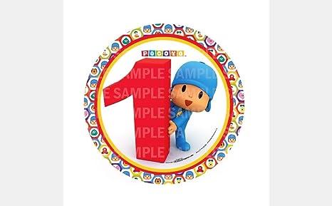 Amazon.com: Pocoyo 1er para Primer Cumpleaños de comestible ...