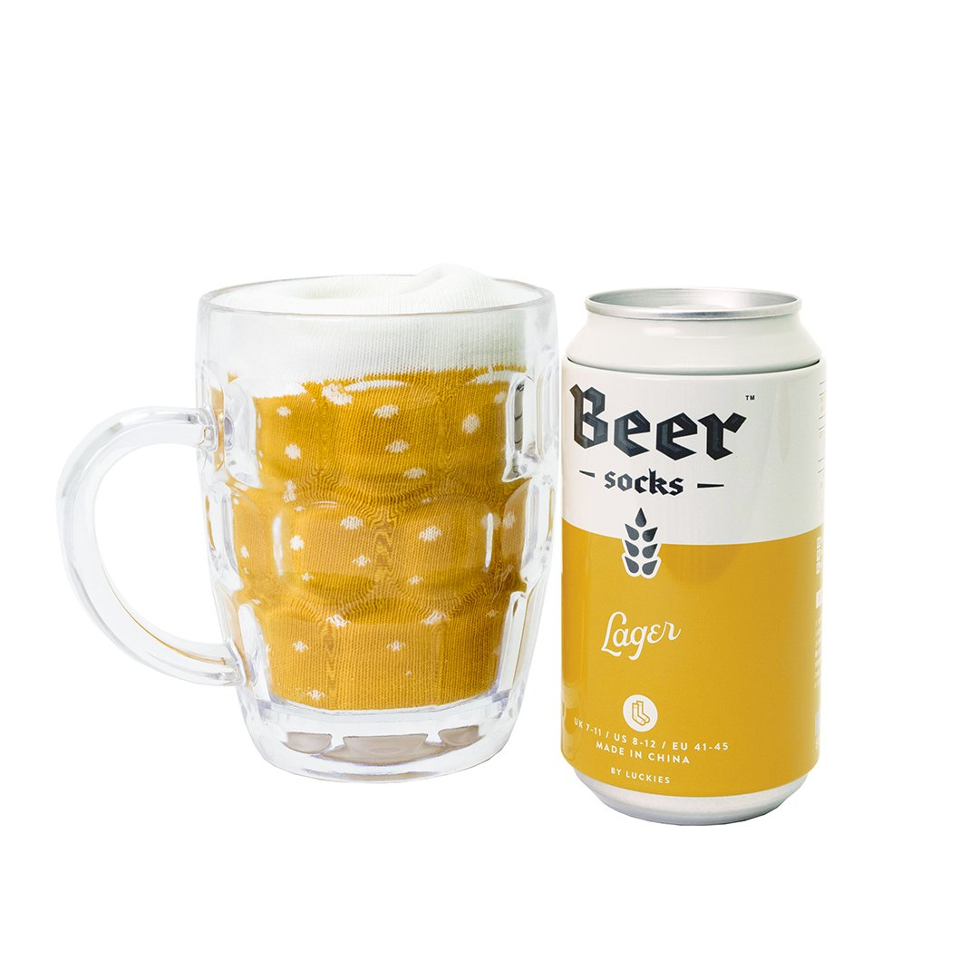Amazon.com: Novelty Beer Socks - Colorful Socks for Men, Made from Soft Cotton Nylon - Funny Socks for Men, Crazy Socks in Beer Can, Yellow Lager: Office ...