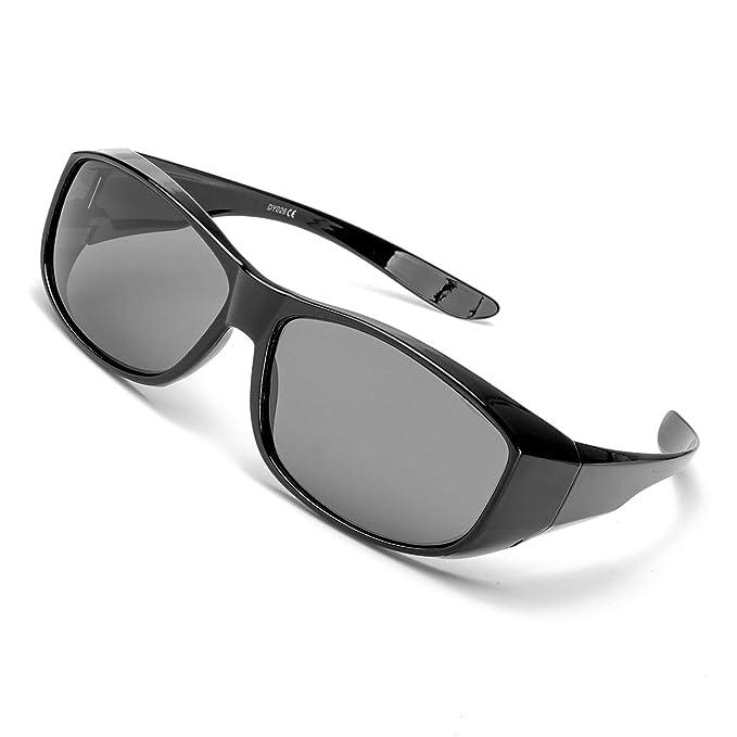 c622e0093c7c Amazon.com: IGnaef Polarized Glasses, Fit Over Rectangular Glasses ...