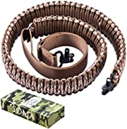 SOMA Rifle Sling with Swivel 2 Point Paraocrd Gun Sling Adjustable Strap for Outdoor Hunting