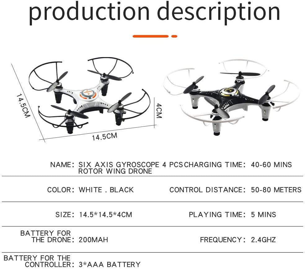 Color : 2 Battery Packs Without Tripod Camera LAOHAO Mini Without Tripod a Key Rollover UAV Endless Mode