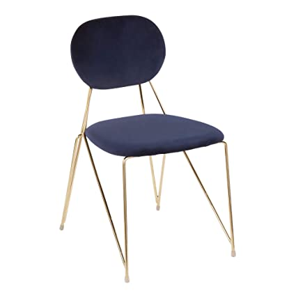 Image Unavailable  sc 1 st  Amazon.com & Amazon.com - LumiSource Chair in Gold and Blue - Set of 2 - Chairs
