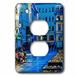 3dRose Alexis Photo-Art - Moscow City - Moscow city art. Business day morning, early summer - Light Switch Covers - 2 plug outlet cover (lsp_272299_6)