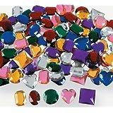 "Fun Express - Jumbo 1"" Assorted Adhesive Jewels (4-Pack of 100)"