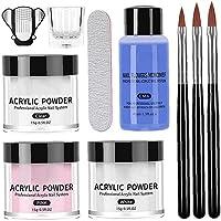 Acryl Dip Poeder Franse Nail Art Starter Kit Jar Dip Manicure Gel Polish Franse Manicure kit voor Meisje Vrouwen 10 STKS