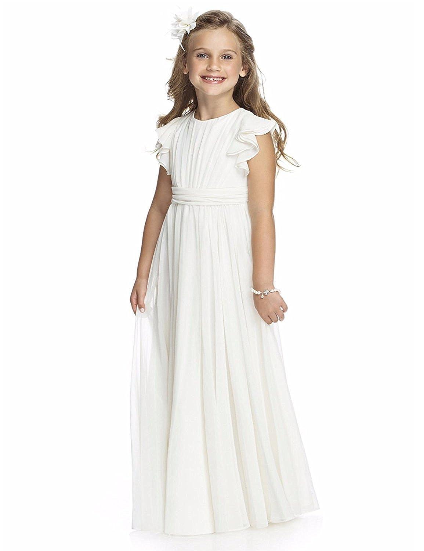 Izanoy Izanoy Mädchen Blumenmädchen Kleid Junior Brautjungfer Kleid ...