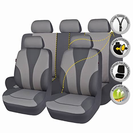 Amazon Com Flying Banner Gray Cloth Fabric Universal Car Seat