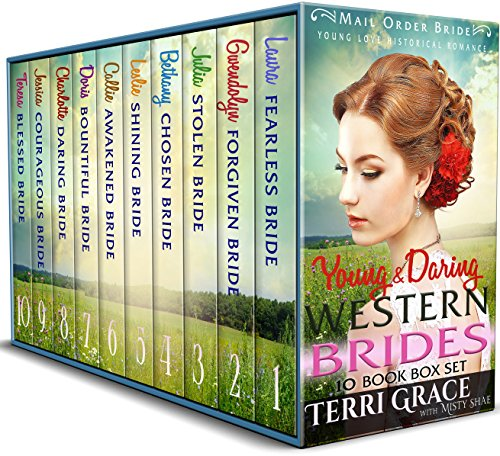 Young & Daring Western Brides 10 Book Box Set: Mail Order Bride Young Love Historical Romance cover