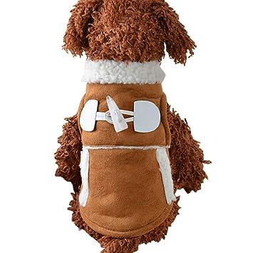 BulzEU- Sherpa Perro Ropa Abrigo Mascota Invierno Cálido Traje Chaleco Chaleco Ropa para Pequeños Perros