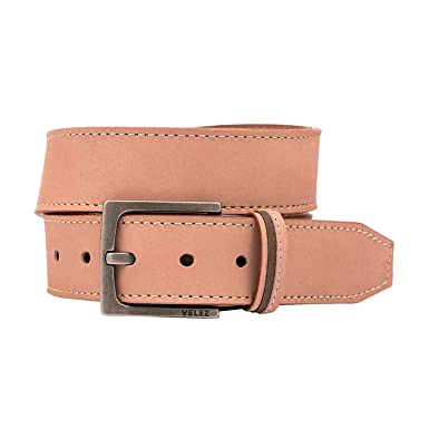 Velez Genuine Full Top Grain Men Real Leather Belt Correa Cuero de Caballero Beige 32