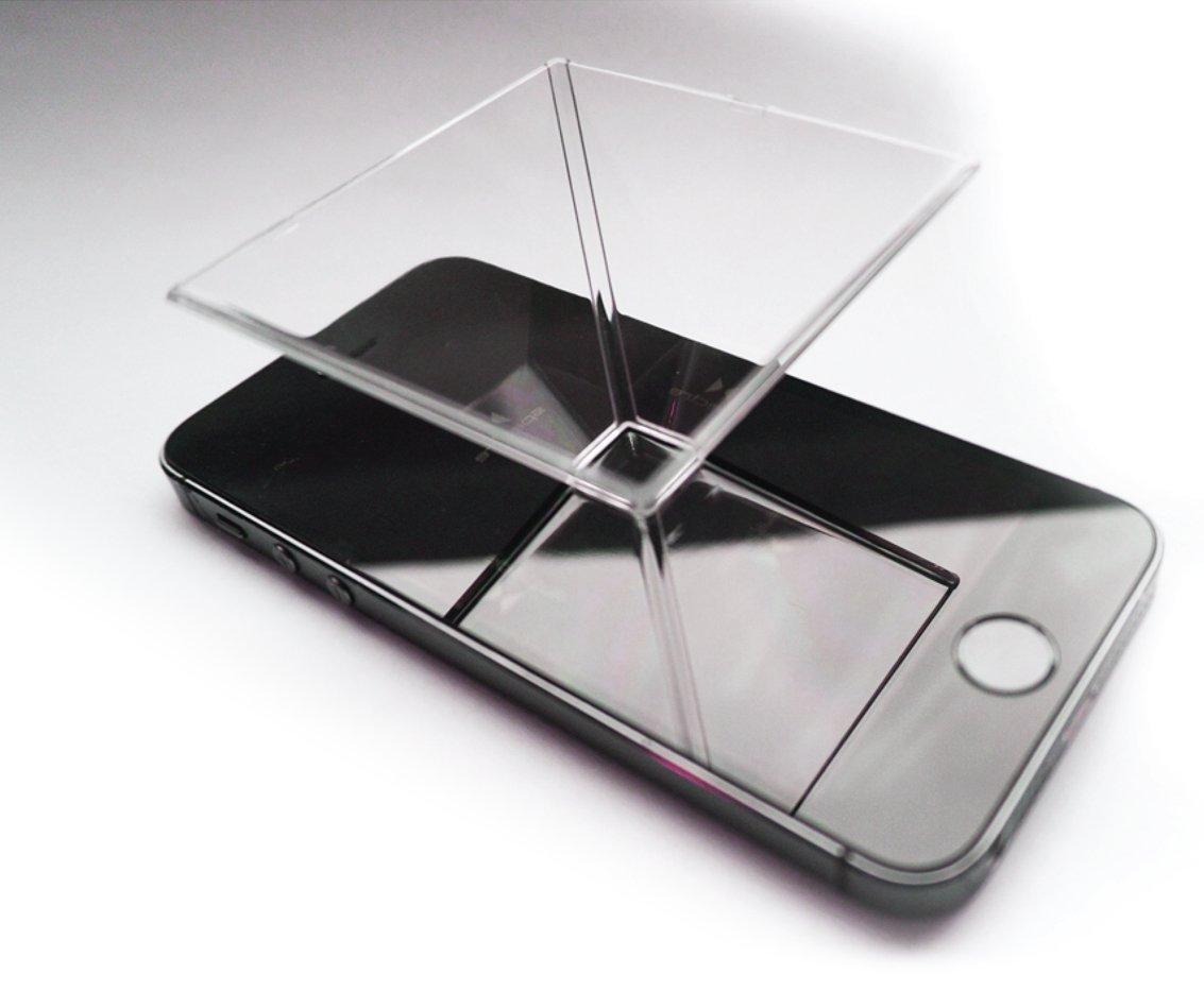Spectre Smartphone 3D ologramma proiettore - Per qualsiasi smartphone Corona Plastics