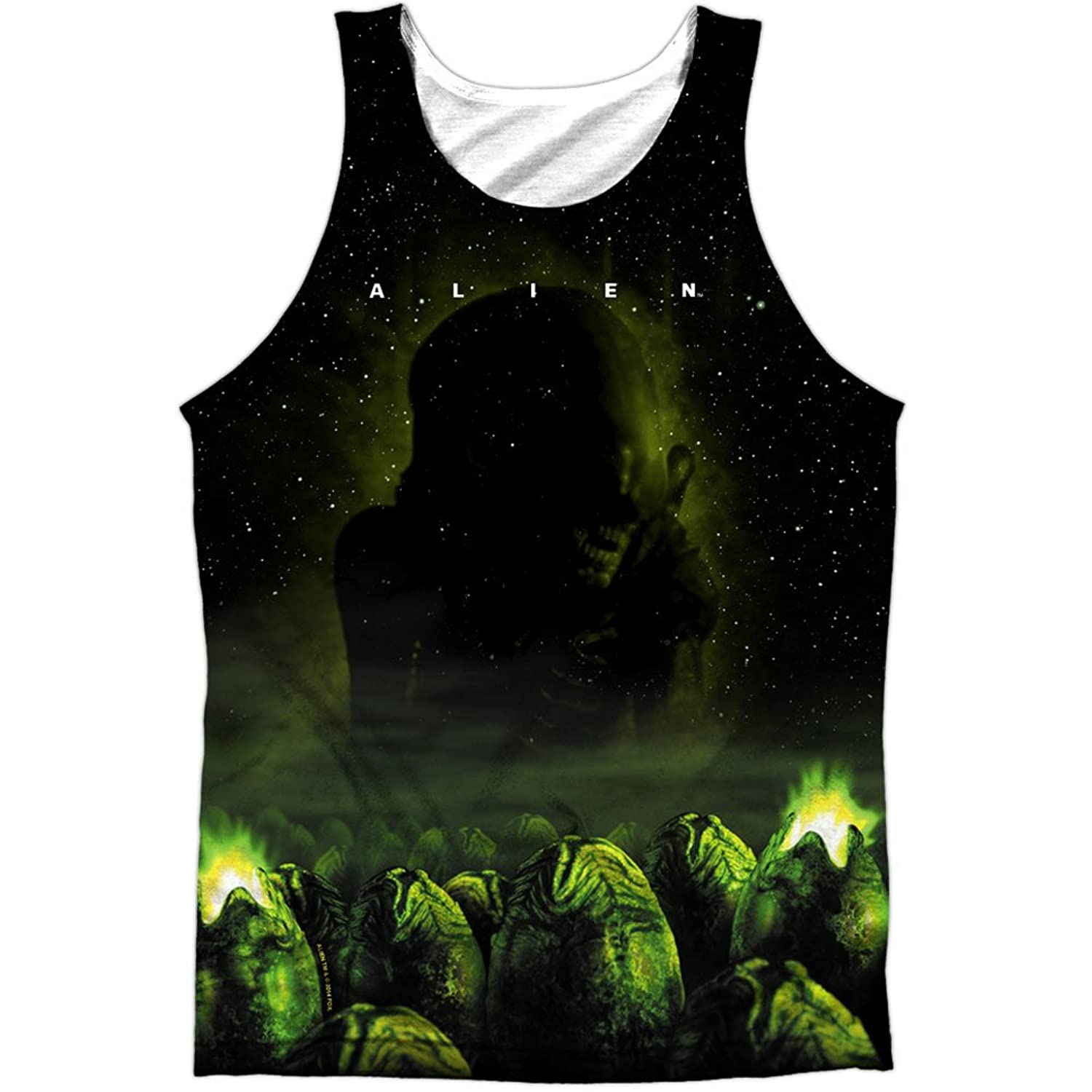 Alien Horror Science Fiction Movie Egg Chamber Poster Front Print Tank Top Shirt