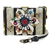MARY FRANCES Spring Fever Embellished Floral Crossbody Handbag
