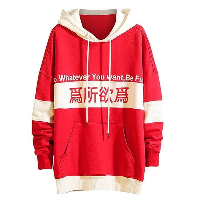 Goddessvan Mens Fashion Autumn Winter Drawstring Hooded Long-Sleeved Printed Sweater Tops Blouse