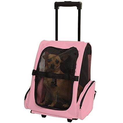 LOHUA Mochila de Viaje 4 en 1 - Bolso para Perros y Gatos, Transportín Bolso