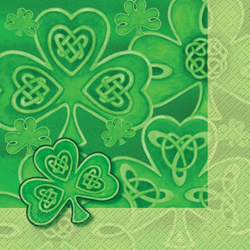 Saint Patrick's Day Clover Party Napkins, 20ct