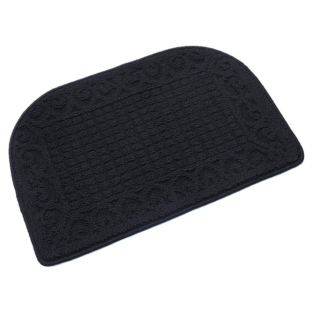 27X18 Inch Anti Fatigue Kitchen Rug Mats are Made of 100% Polypropylene Half Round Rug Cushion Specialized in Anti Slippery and Machine Washable,Black