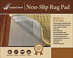 Non Slip Rug Pad Size 8\' X 10\' Extra Strong Grip Thick Padding And High Quality