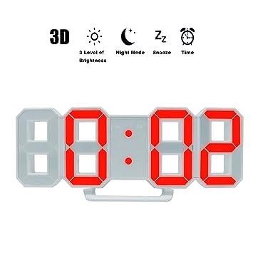 Amazon.com: LED reloj despertador para computadora/estante ...