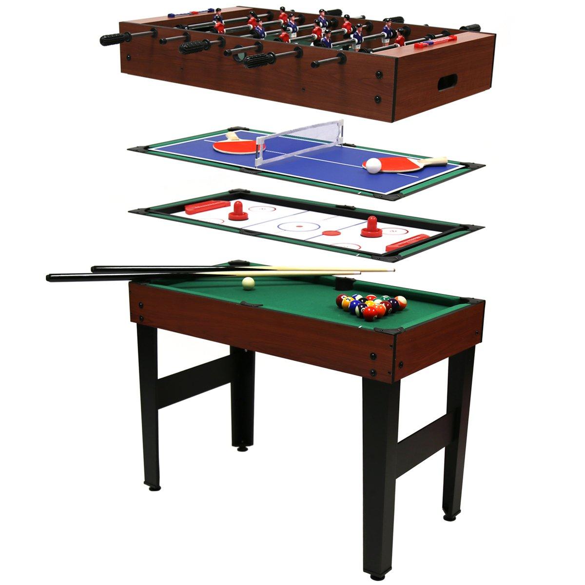 Charles Bentley 4 In 1 Multi Sports Table Including Pool, Football, Push  Hockey U0026 Table Tennis: Amazon.co.uk: Toys U0026 Games