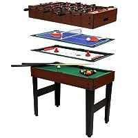 Charles Bentley - tavolo multigioco 4 in 1 - biliardo, calcio, hockey, ping pong