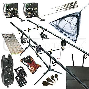 Carp Fishing Set y refugio/refugio, Cañas, carretes, vaina ...